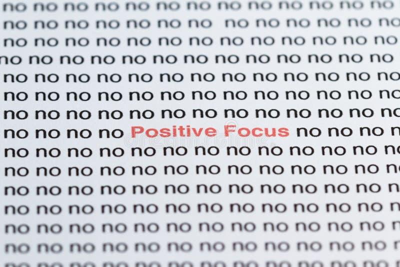 Фокусировать на положительных мыслях стоковое фото rf