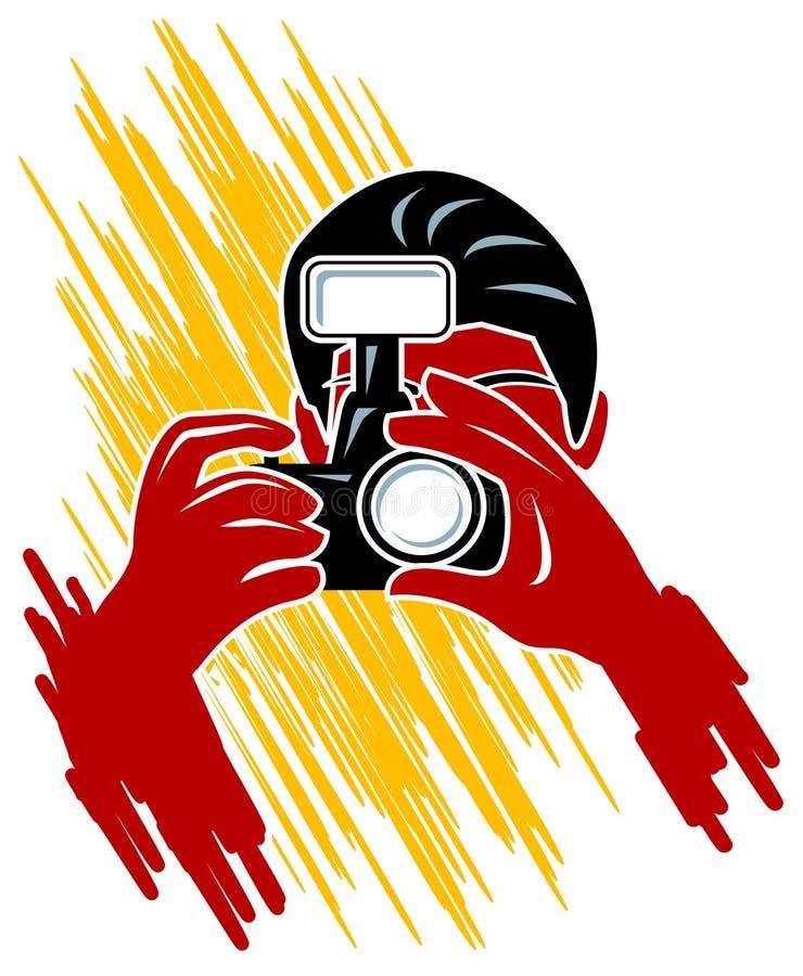 фокус камеры иллюстрация вектора