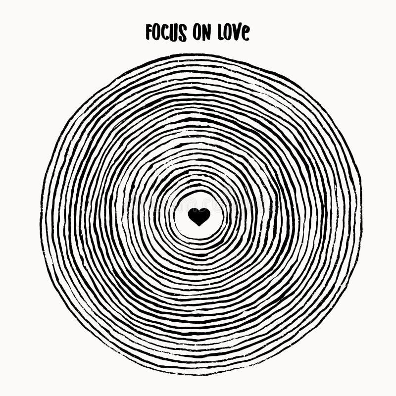 Фокус на влюбленности бесплатная иллюстрация