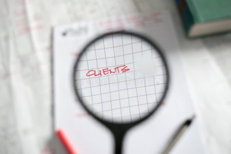 Фокус на клиентах стоковая фотография