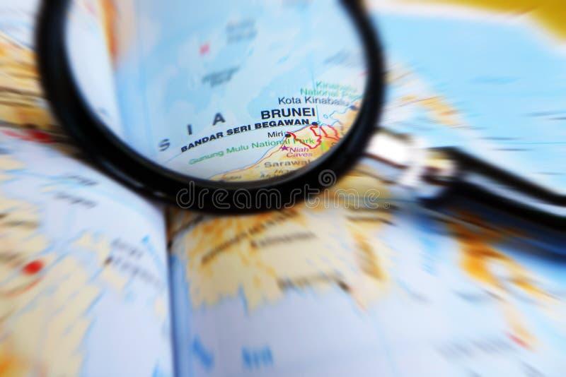Фокус на принципиальной схеме Бруней стоковое фото rf