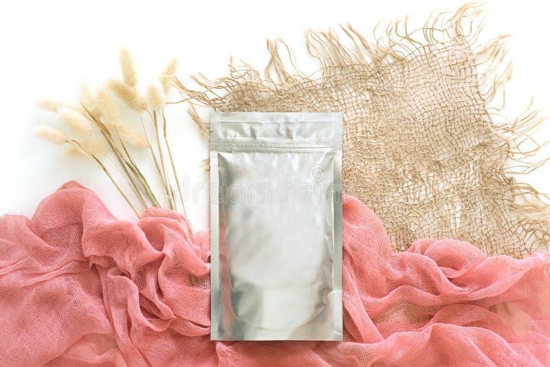 Фольга упаковывая для свободных косметических продуктов, стоковое фото rf