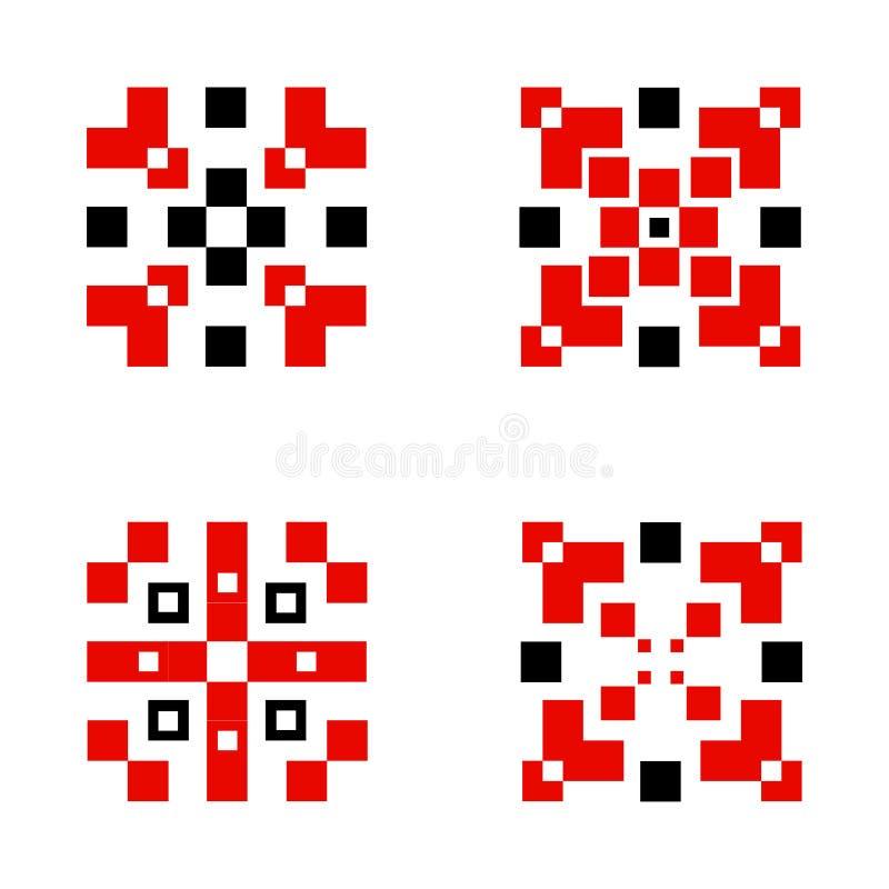 Фольклорный дизайн вектора орнамента этнический бесплатная иллюстрация