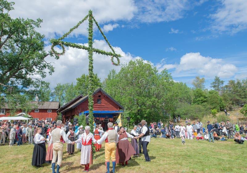 фольклор Швеция ансамбля стоковые изображения rf