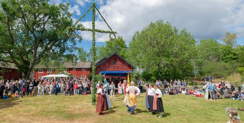 фольклор Швеция ансамбля стоковые фотографии rf