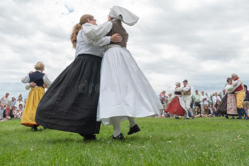 фольклор Швеция ансамбля стоковое изображение rf