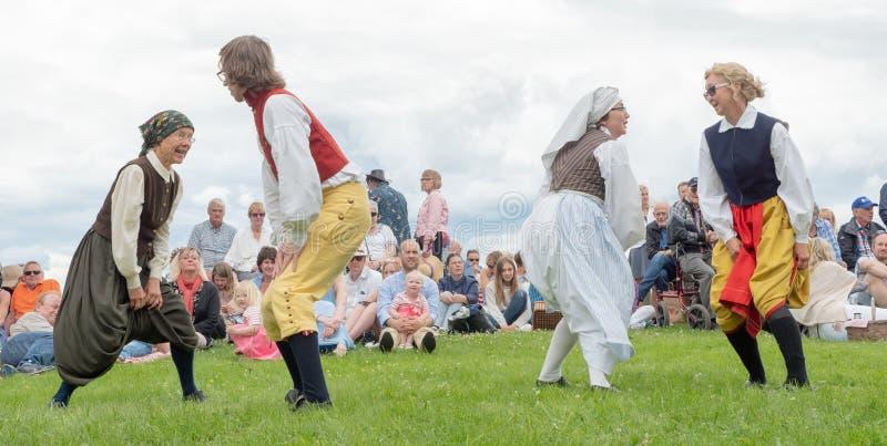 фольклор Швеция ансамбля стоковая фотография