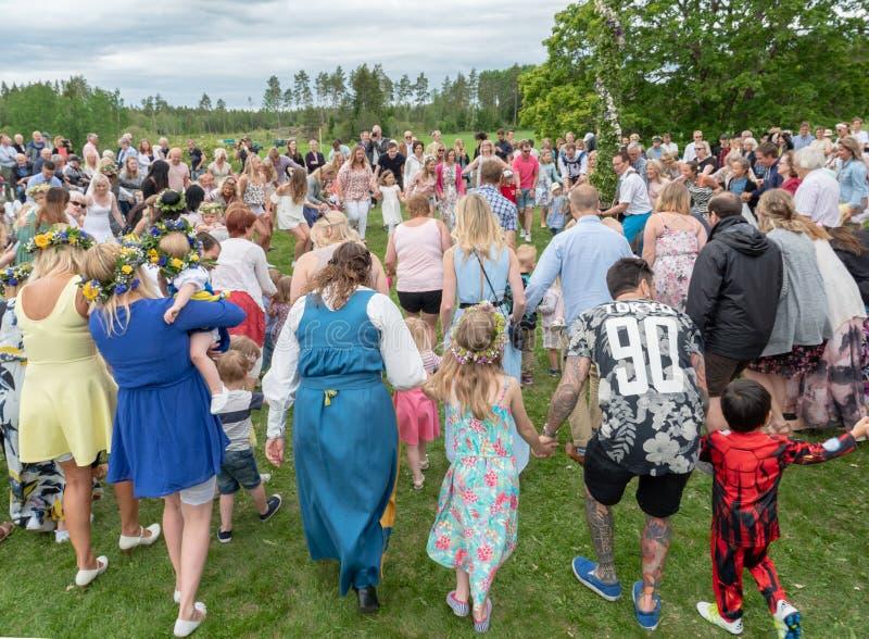 фольклор Швеция ансамбля стоковое изображение