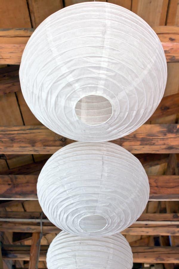 3 фонарика белой бумаги (писать) стоковое изображение