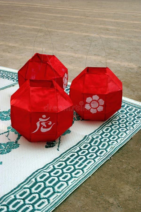 фонарики красные стоковые изображения rf