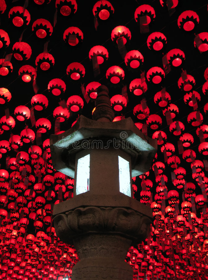 фонарики s seoul Будды Кореи дня рождения стоковая фотография rf