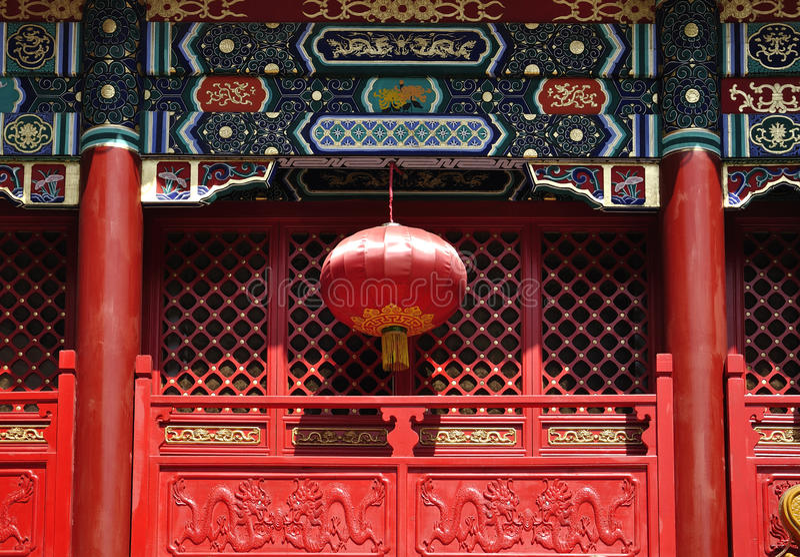 фонарик китайца фарфора стоковая фотография