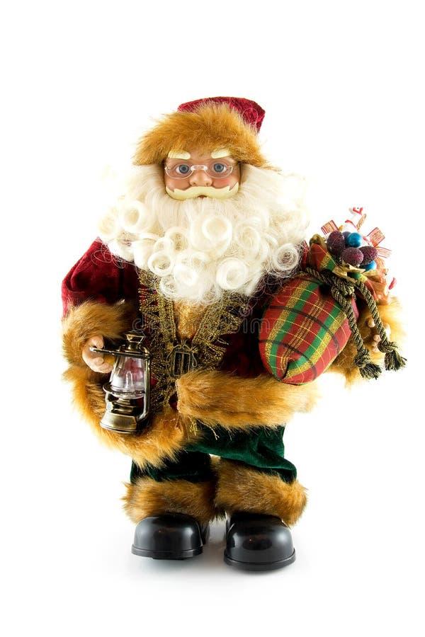 фонарик куклы claus представляет santa стоковая фотография