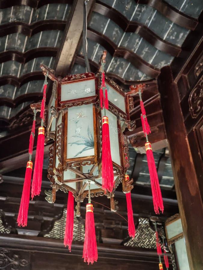 Фонарик на садах Yu, Шанхай традиционного китайския, Китай стоковые фотографии rf