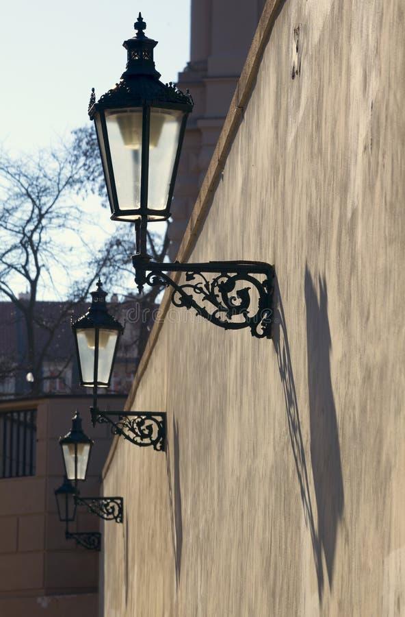 Фонарик Праги исторический стоковая фотография