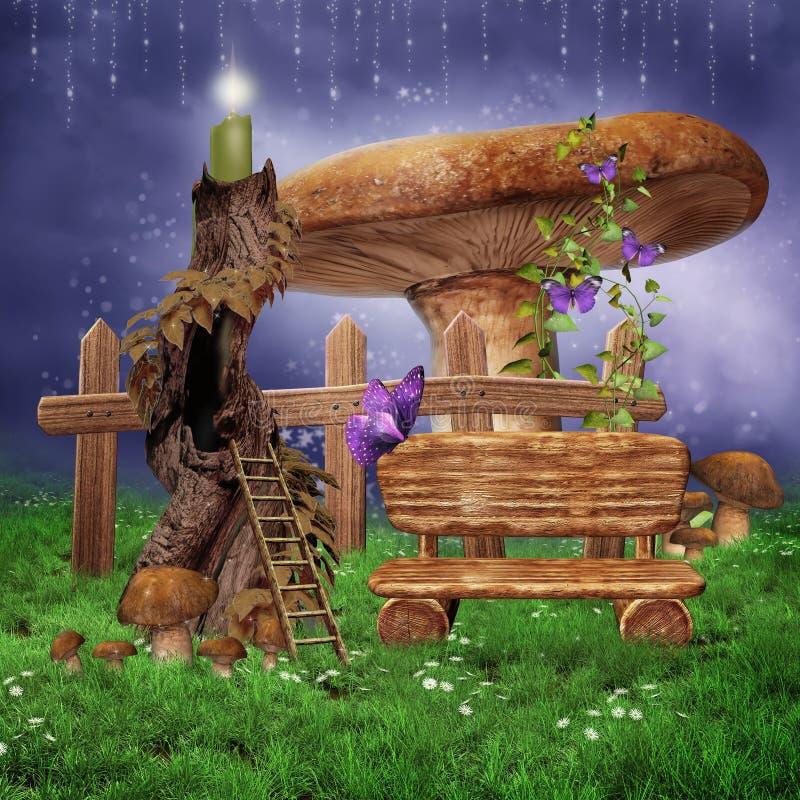 фонарик свечки fairy иллюстрация штока