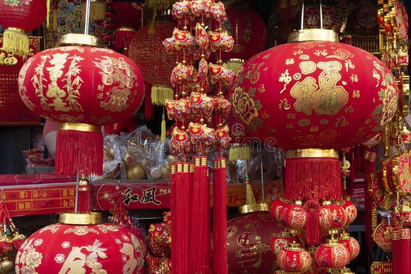 Фонарик шарма Hinese для украшения во время китайского Нового Года стоковые изображения
