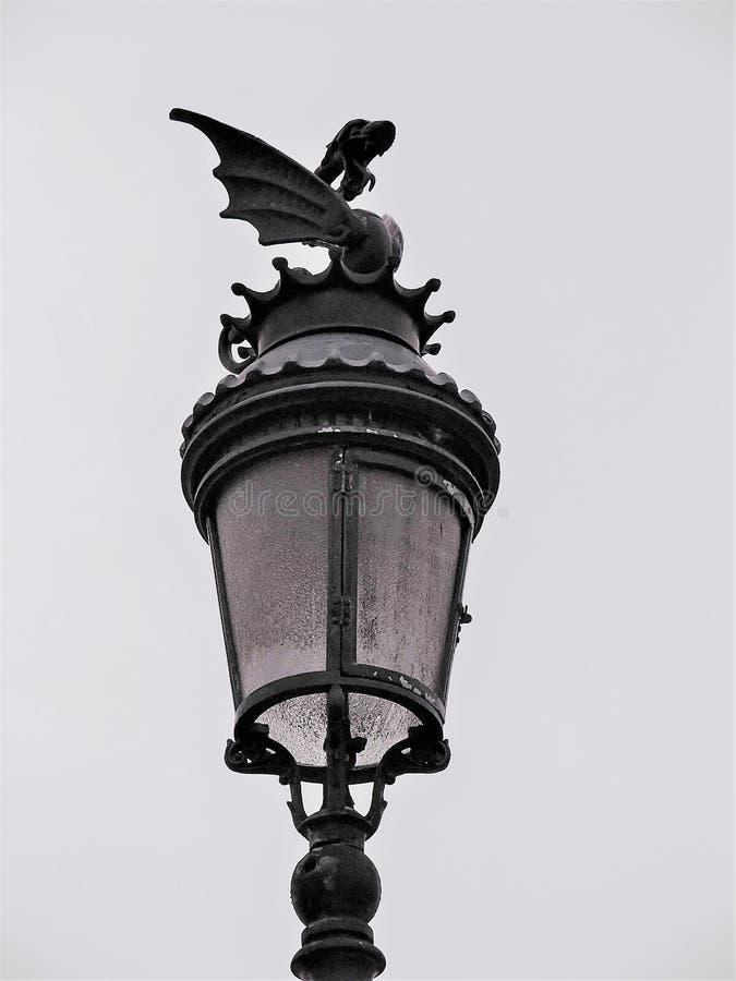 фонарный столб от Бильбао стоковые изображения rf