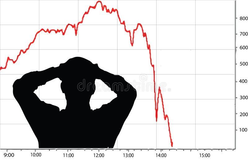 Фондовая биржа разбивает иллюстрация штока