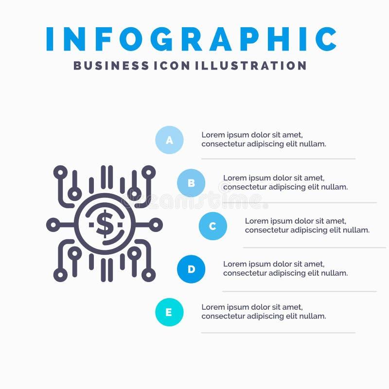 Фонд толпы, финансирование толпы, продажа толпы, толпа продавая, финансируя линия значок с предпосылкой infographics представлени бесплатная иллюстрация