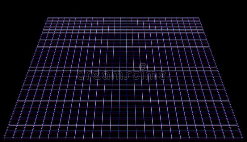 Фоновое изображение космоса кибер в розовом неоновом ретро стиле иллюстрация штока