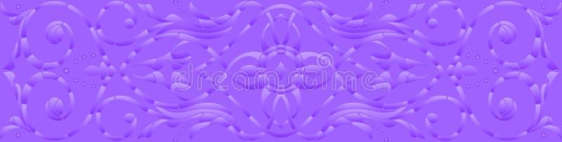 Фоновое изображение с абстрактными цветками, фиолетовое полутоновое изображение, горизонтальная ориентация иллюстрация штока