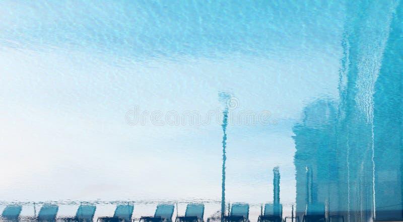 Фоновый фон воды в голубом бассейне стоковое изображение rf