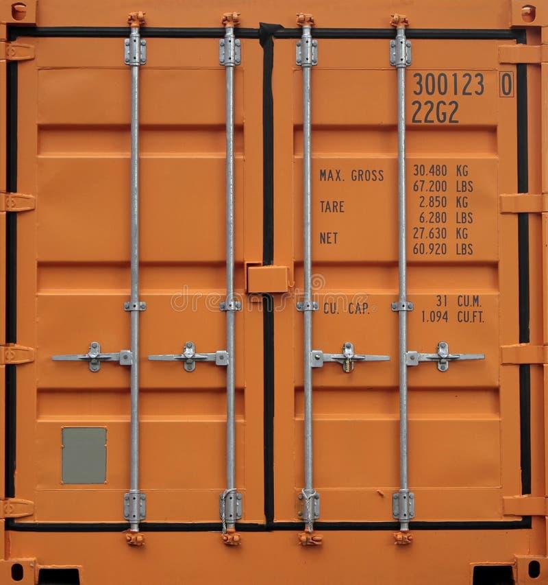 Фоновый фон оранжевого железо-грузового контейнера стоковые изображения rf