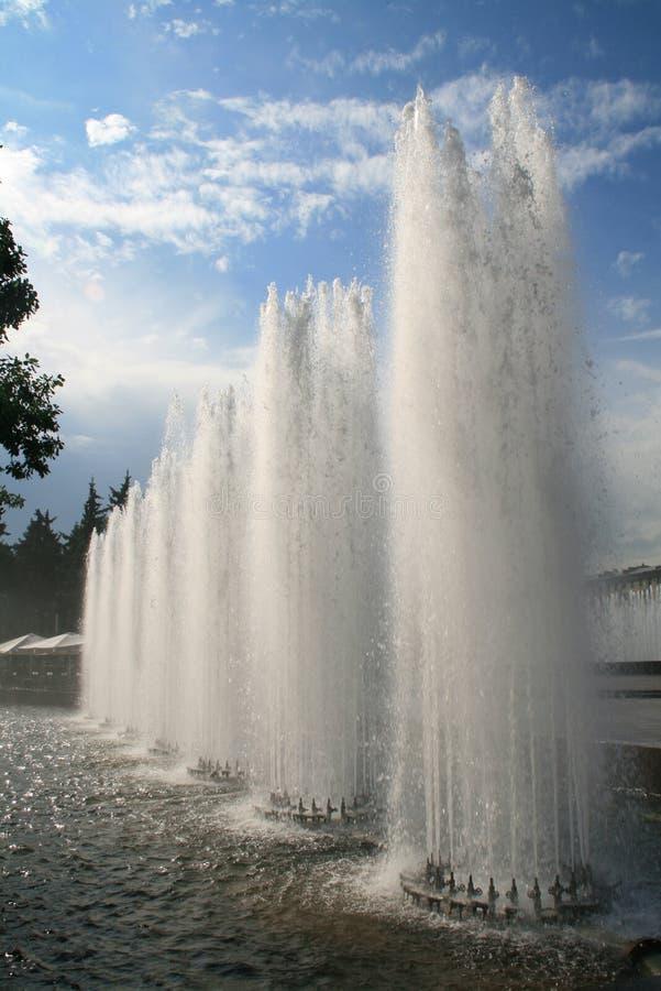 фонтаны стоковое изображение