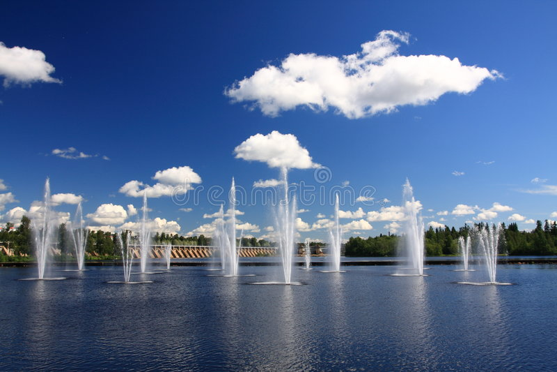 фонтаны стоковое фото rf