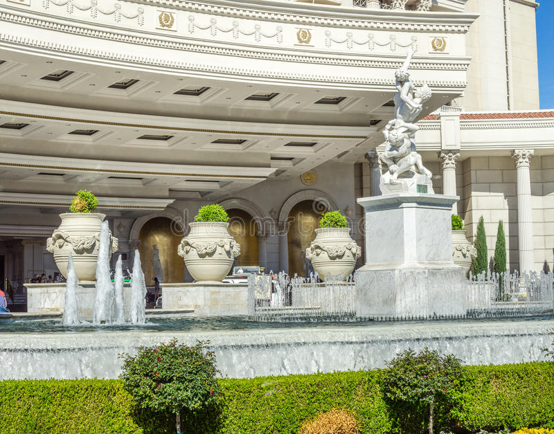 Фонтан дворца Caesars стоковое фото rf