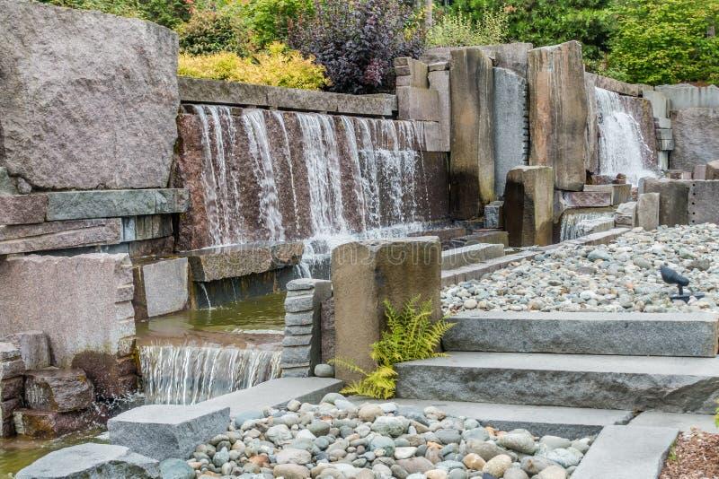 Фонтан 10 водопада стоковое изображение