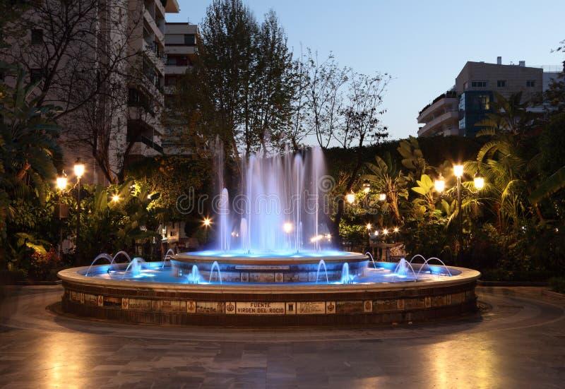 Фонтан в Марбелье, Испании стоковые изображения rf