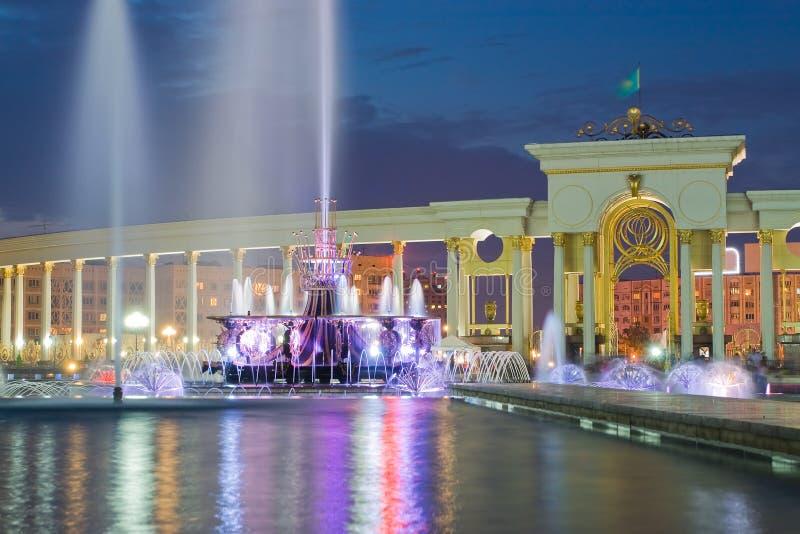 Фонтан в национальном парке Казахстан, Almaty стоковое изображение