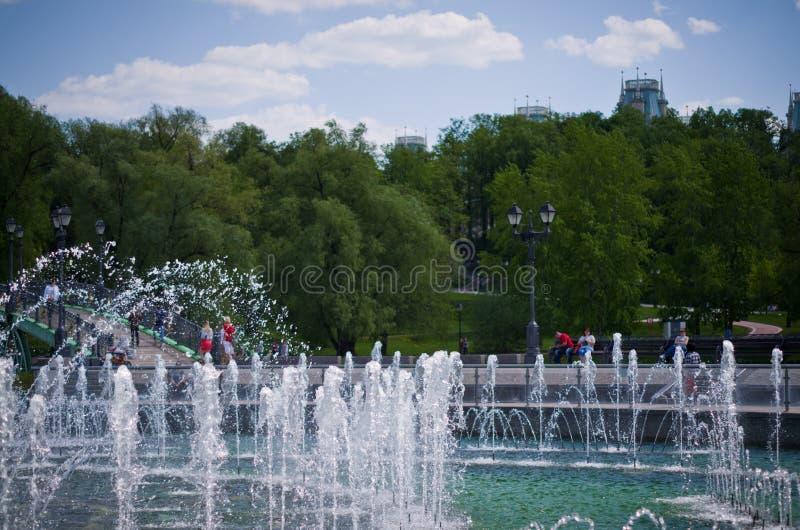 Фонтан в парке Tsaritsyno стоковое фото rf