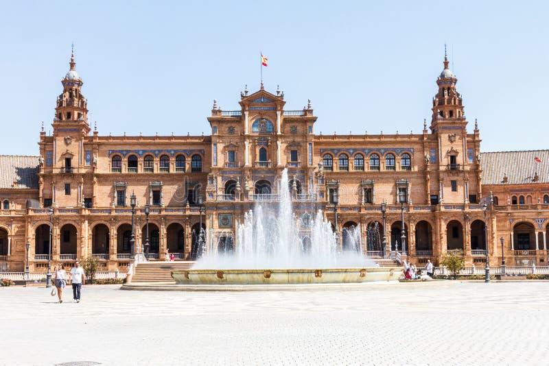 Фонтан в площади de Espana стоковая фотография rf