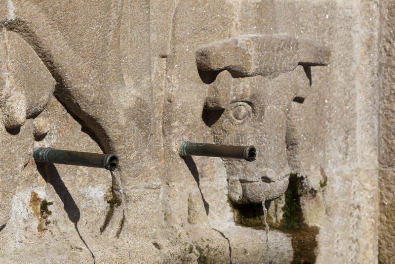 Фонтан в Santiago de Compostela стоковое изображение rf