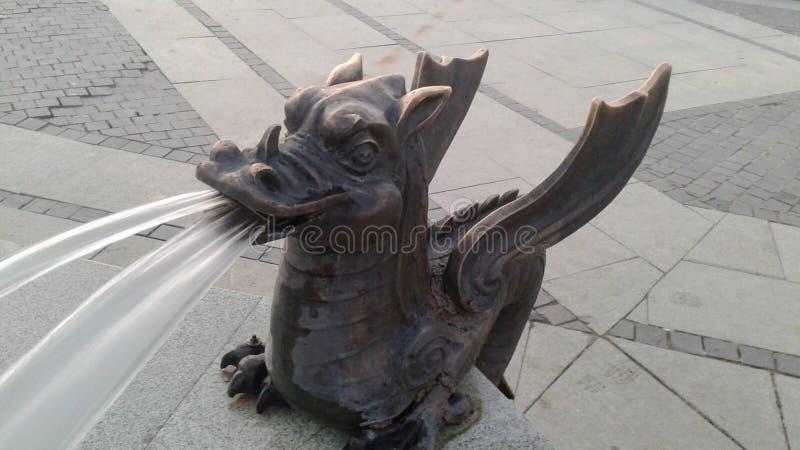 Фонтан дракона стоковое изображение