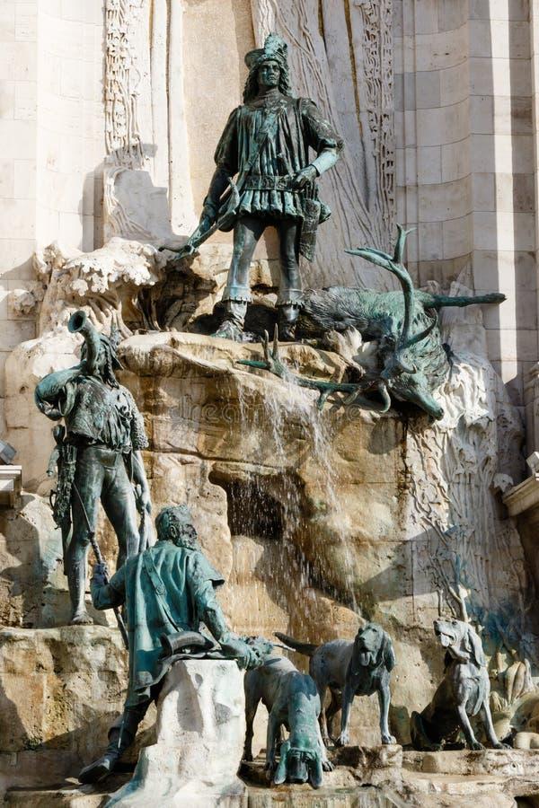 Фонтан короля Matthias стоковые фотографии rf