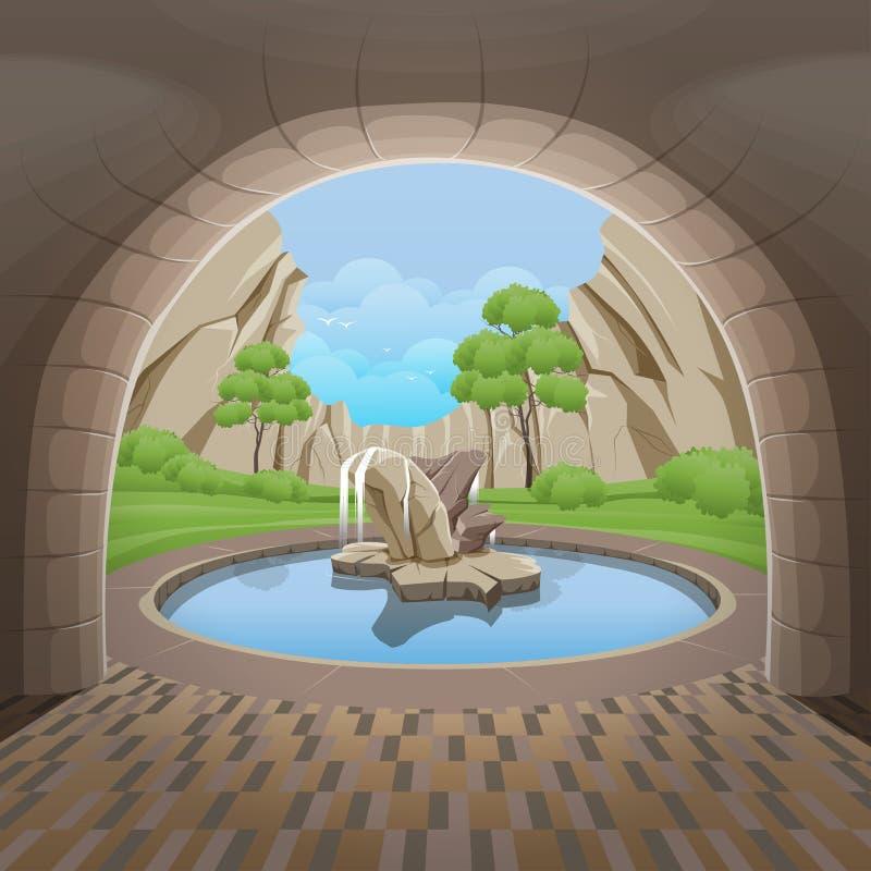Фонтан круга в Central Valley бесплатная иллюстрация