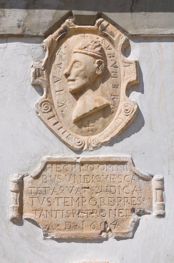 фонтан монументальный Morano Calabro Калабрия Италия стоковые фото