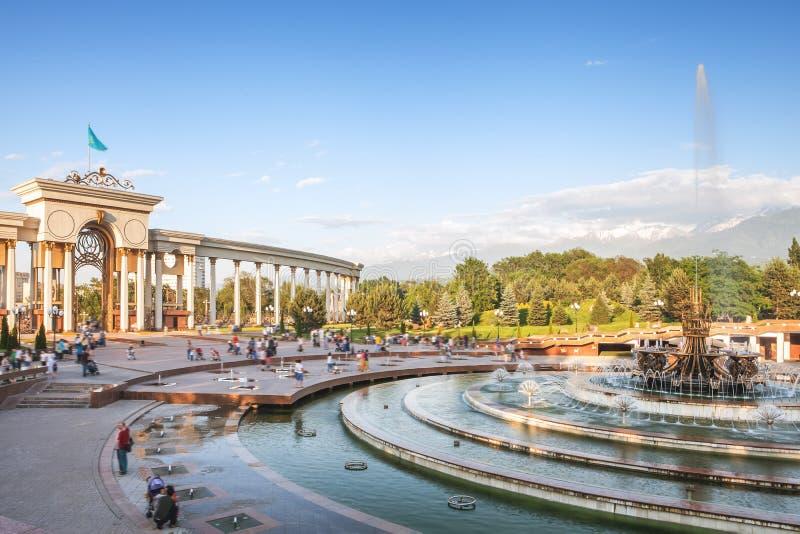 Фонтан на Алма-Ате, Казахстан стоковое изображение