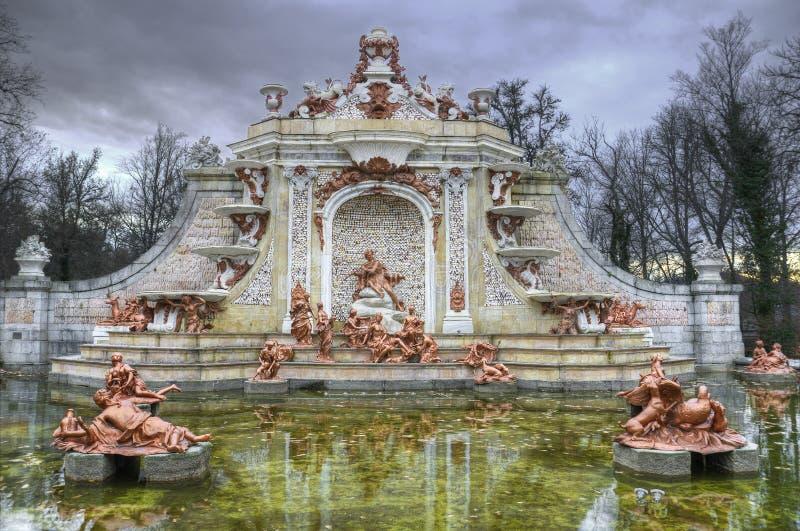 Фонтан на садах La Granja de san Ildefonso. стоковая фотография