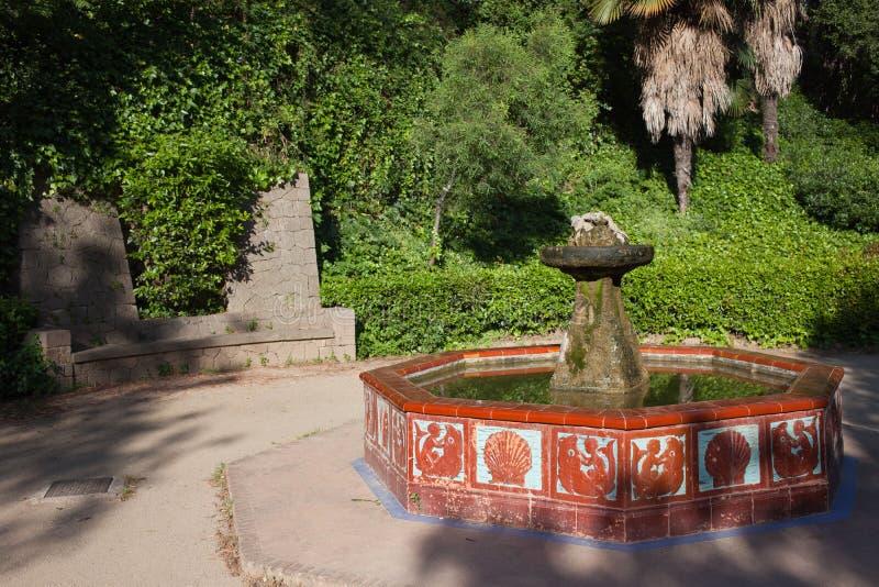 Фонтан сада Montjuic в Барселоне стоковая фотография