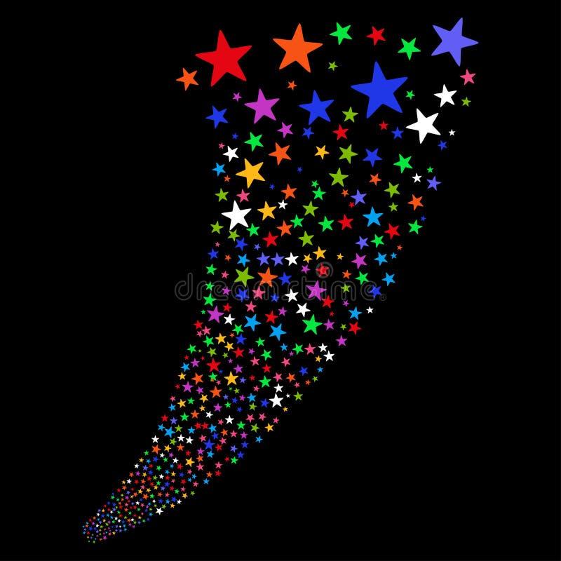 Фонтан фейерверков звезды иллюстрация вектора