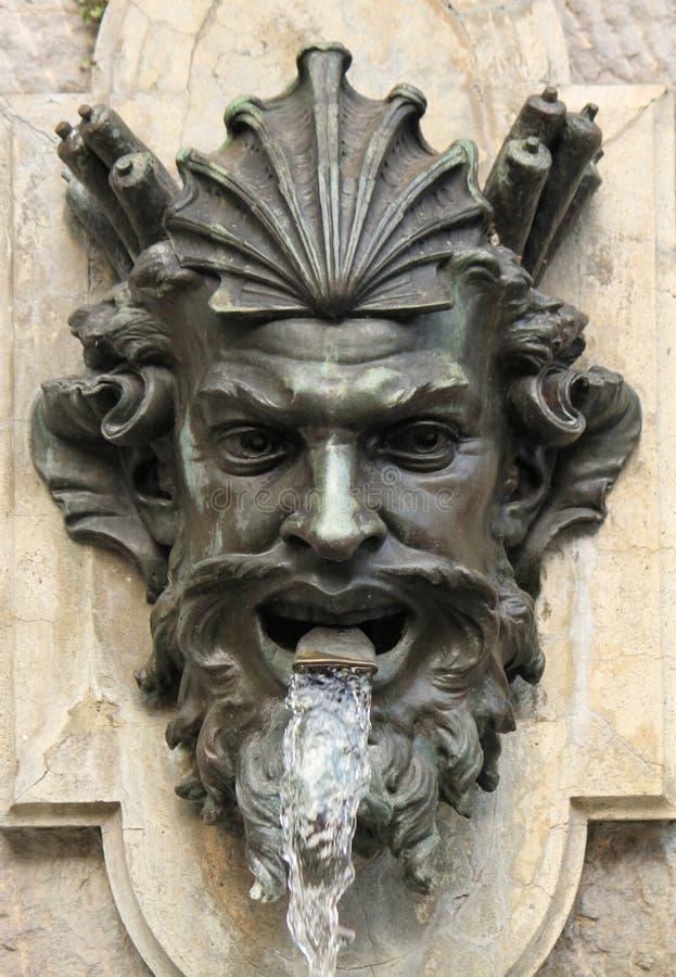 Фонтан человеческой головы, Женева, Швейцария стоковые фото