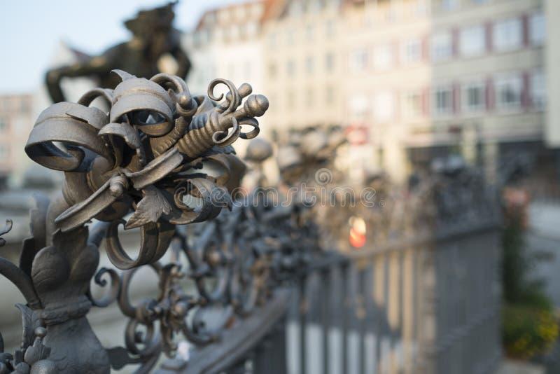 Фонтан Augustus в Аугсбурге стоковое фото