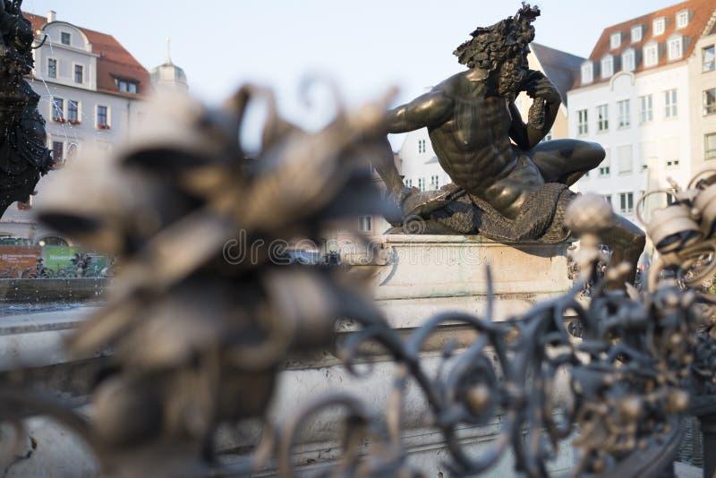 Фонтан Augustus в Аугсбурге стоковое изображение