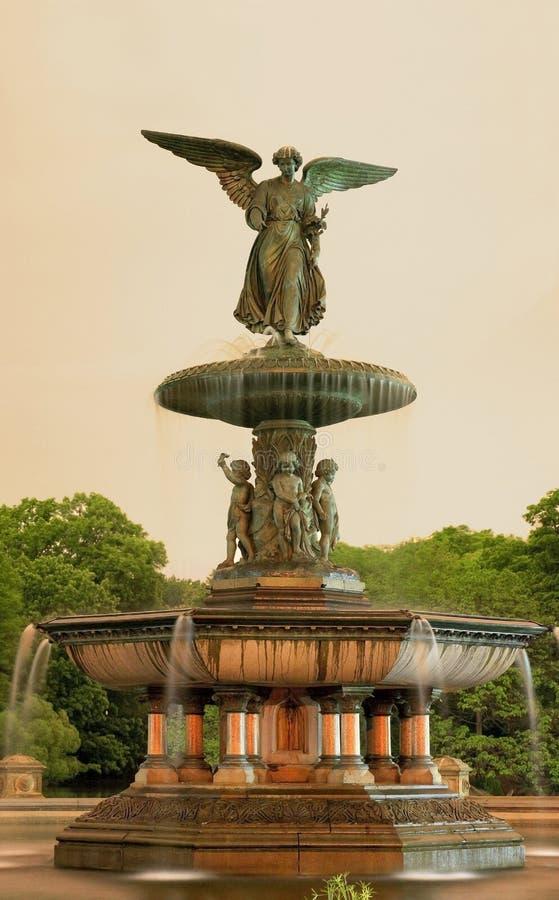 Фонтан Central Park Bethesda ny стоковые изображения rf