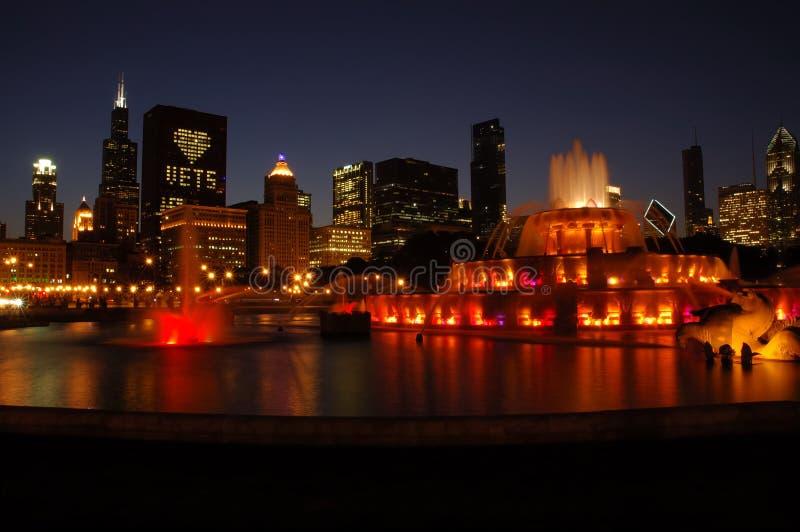фонтан chicago buckingham стоковые изображения rf